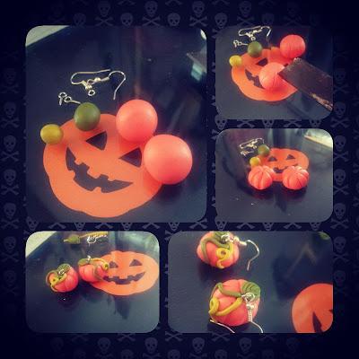 orecchini zucche halloween fimo