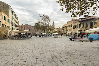 The Campo Santa Margherita in Venice, at the heart of the area in which Bellotto grew up