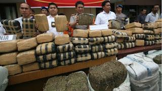 pengedar narkotika di ringkus oleh aparat kepolisian polresta depok Jawa Barat