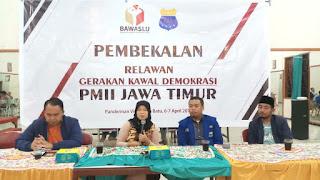 Gandeng Bawaslu, PKC PMII Jawa Timur Gelar Pembekalan Relawan Demokrasi