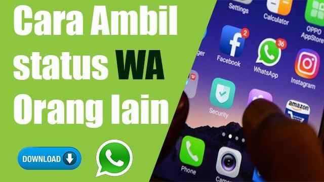 cara download story wa kontak