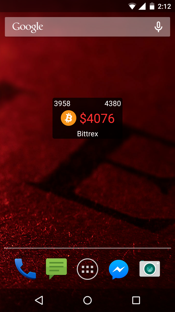 Bitcoin Ticker Widget App — Steemit