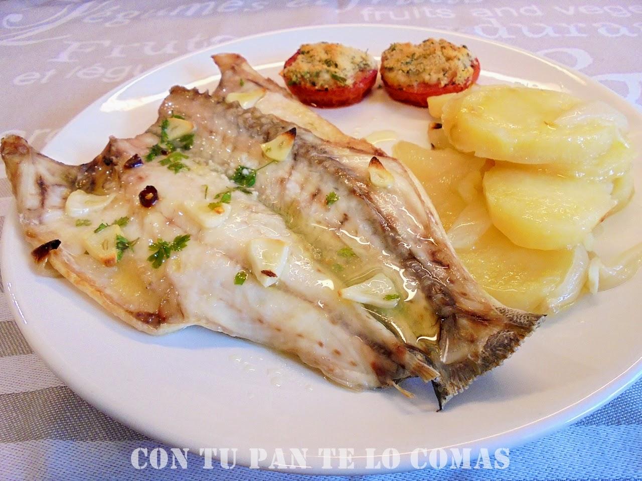 Con tu pan te lo comas lubina al horno for Como cocinar pescado
