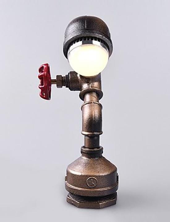 gamar lampu duduk dari pipa besi bekas