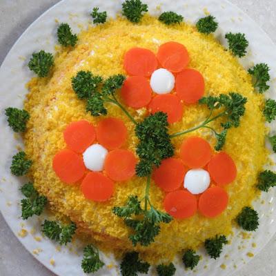 ТОП-10 салатов «цветов»