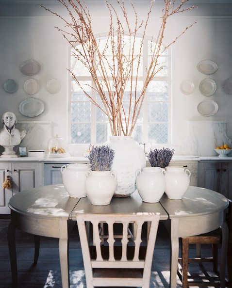 Breathtaking white French Country Kay O'Toole kitchen in Lonny by Patrick Cline
