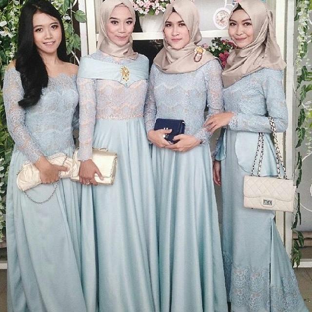Model Kebaya Wisuda Untuk Yang Berjilbab Style Gamis
