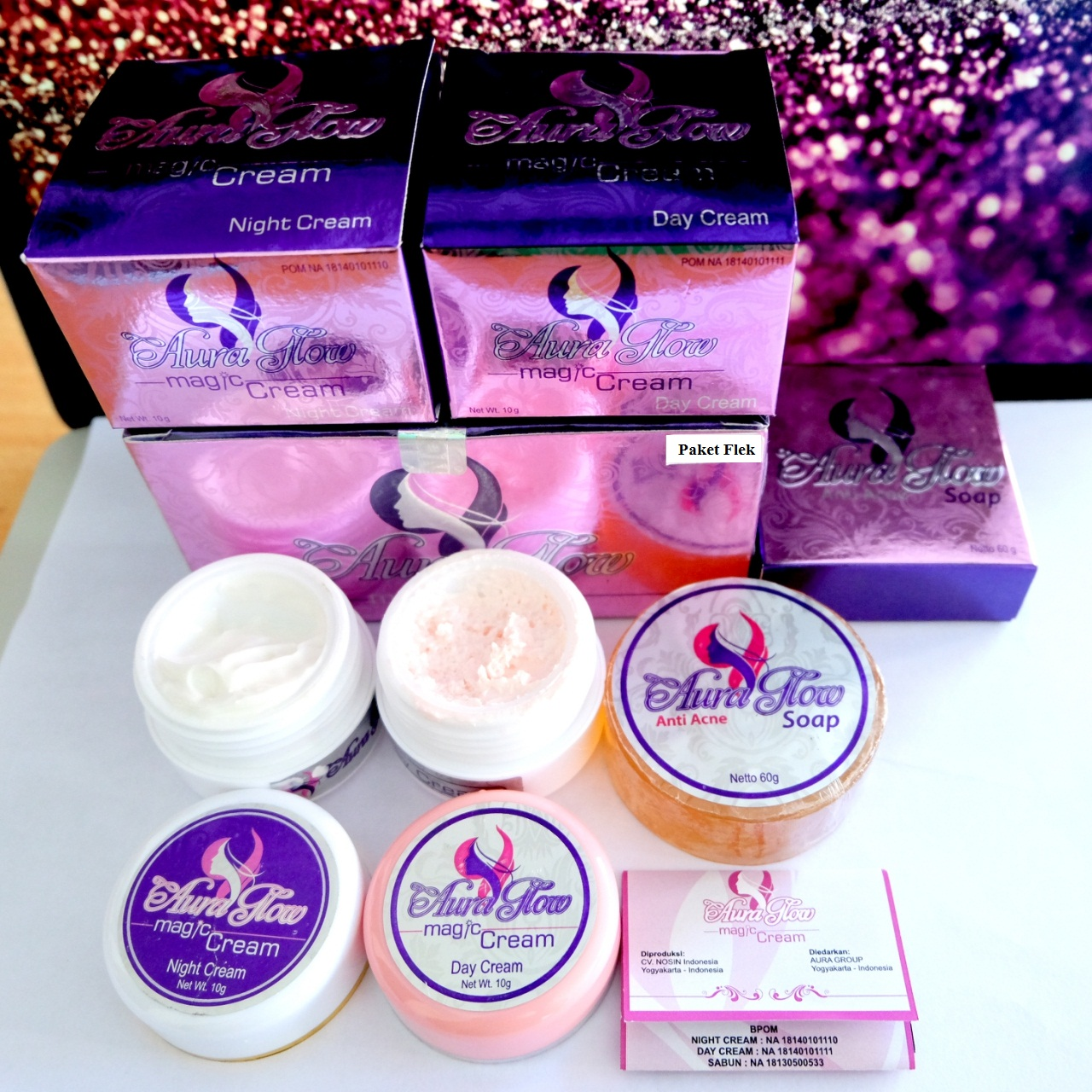 Cream Aura Glow Paket Flek BPOM