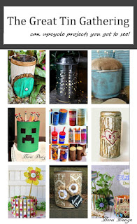 DIY craft how to tutorials for recycled can craft projects.
