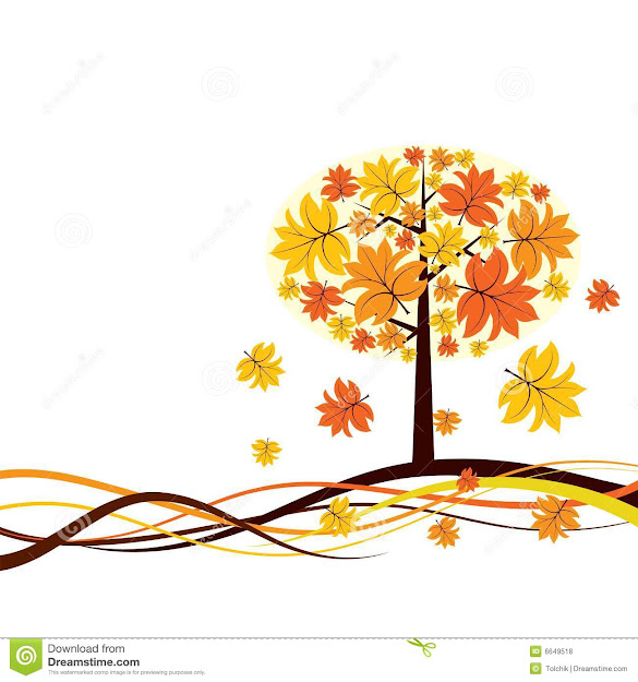 Tree Autumn Background Vector Royalty Free Stock Photos