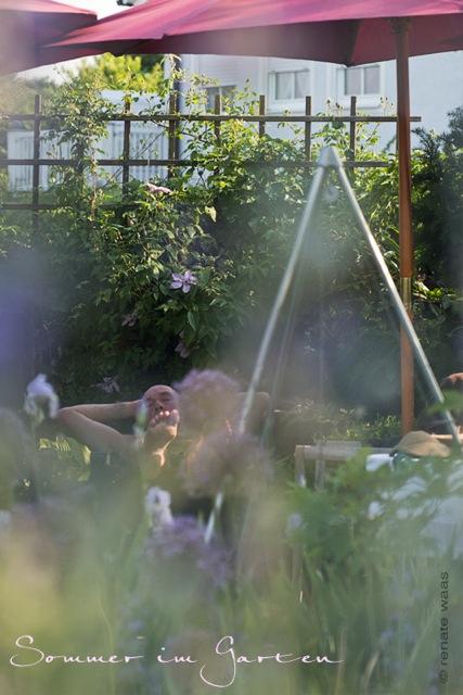 Sommer zu Hause im Garten - Urlaub zu Hause