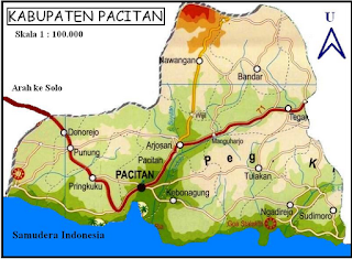 Peta Kabupaten pacitan