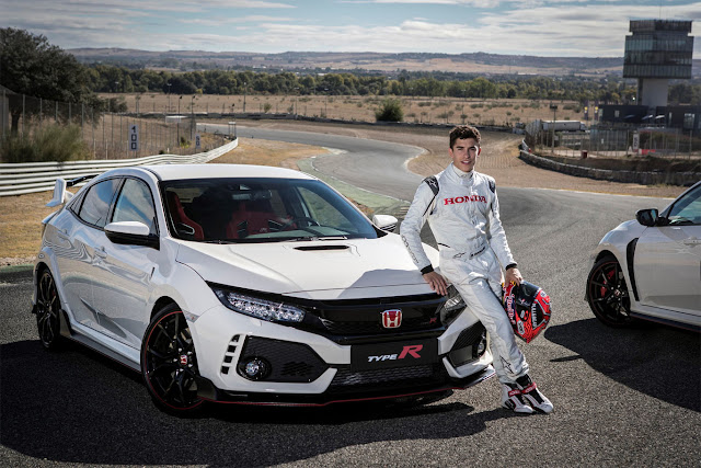 Why Marc Marquez Likes New Honda Civic Type R