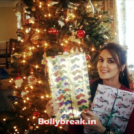 Preity Zinta, Bollywood celebs Christmas Pictures