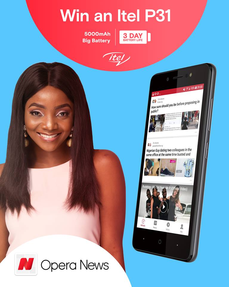 Contest: See How You And Your Friends Can Win Free Itel P31 Smartpone With 5000mAh battery