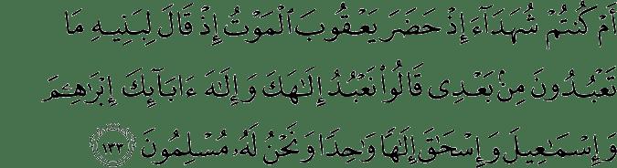 Surat Al-Baqarah Ayat 133