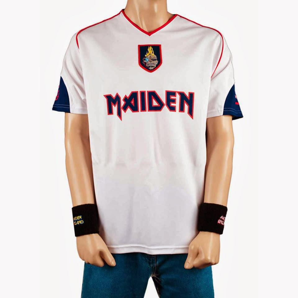 bb1b19b4c0756 IRON MAIDEN - Camisetas de Futebol Maiden England 2014 - IRON ...