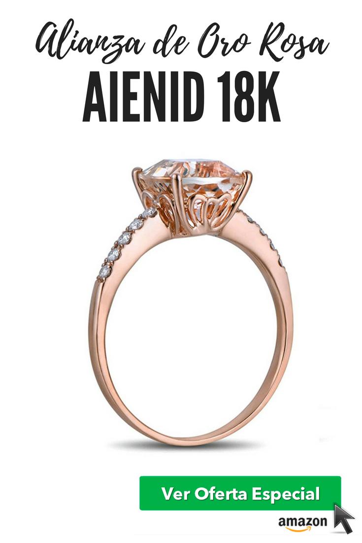 El Regalo perfecto: Alianza de Oro Rosa 18K AieniD Cuadrado Saliente