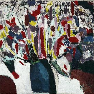 Современное искусство - Дикие цветы в вазе