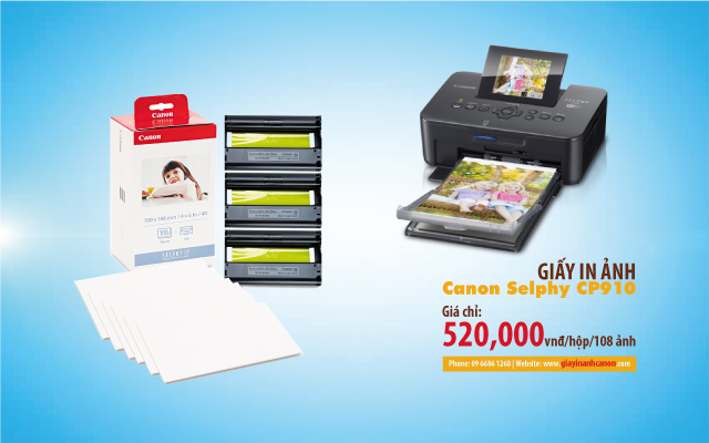 Giấy in ảnh Canon Selphy CP910
