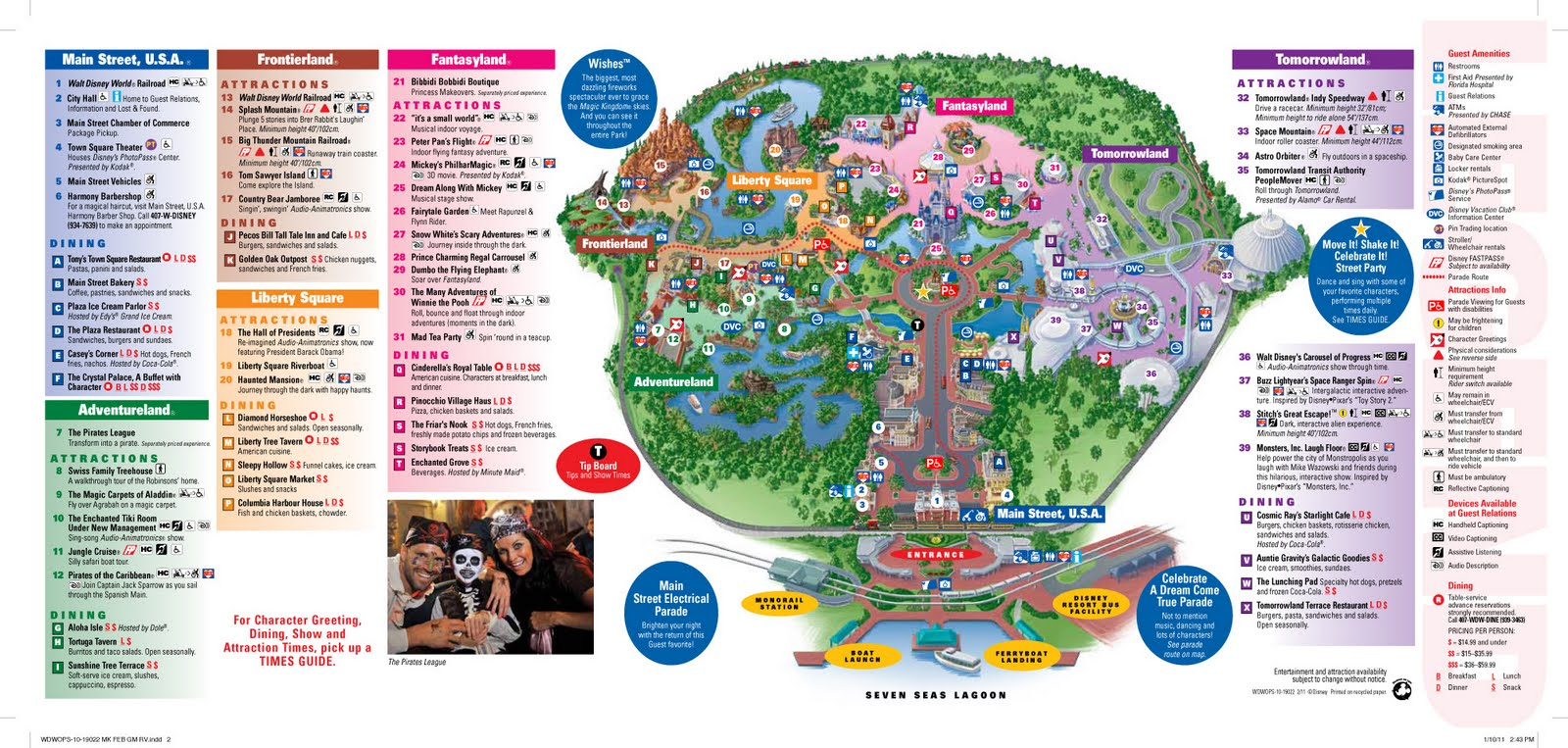 Mapa Y Guia De Magic Kingdom Orlando