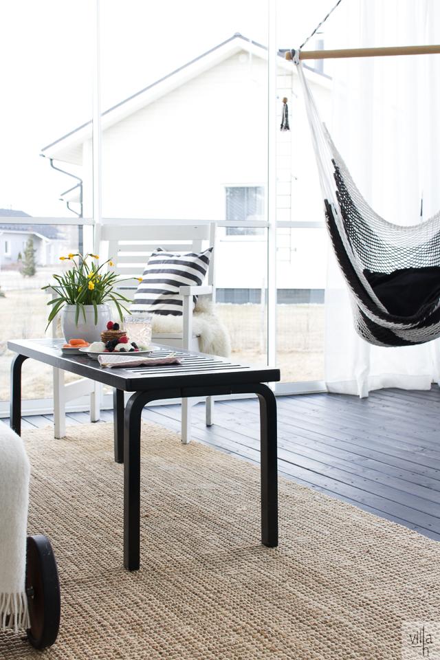 terassi, sisustus, kesä olohuone, koti, interior