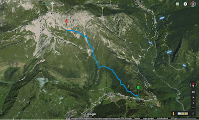 Path from Passo della Presolana to bivacco città di Clusone