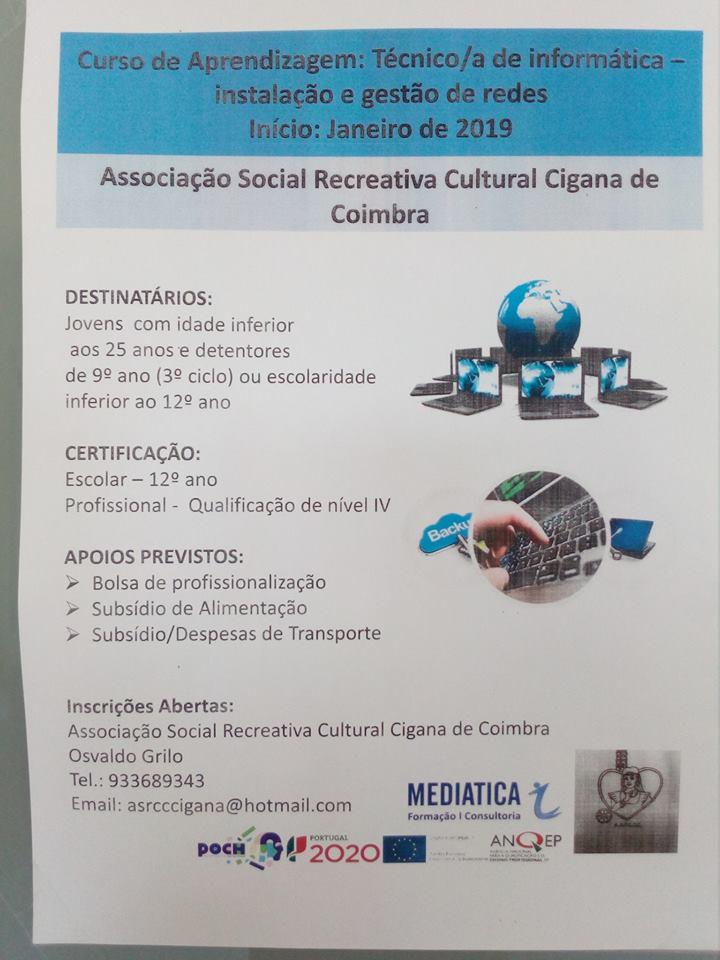 Cursos de aprendizagem financiados Coimbra 2018