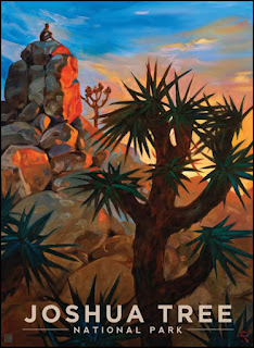 Joshua trees,Joshua Tree National Park,monzogranite,rock formations,climber,sunset,sundown,colorful