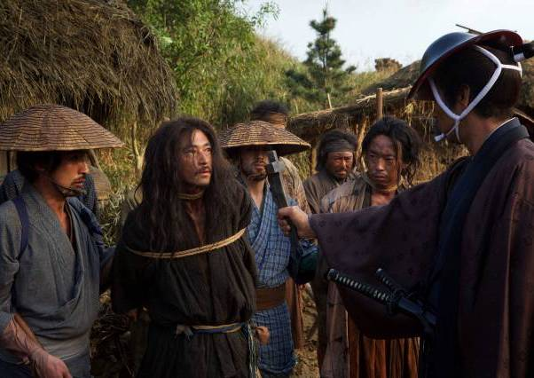A Japanese Christian being forced by a samurai to spit on the cross, Martin Scorsese and apostasize