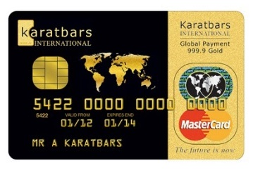 Tarjeta prepago Karatbars