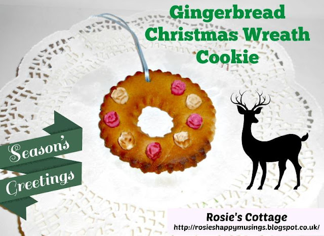 Gingerbread Christmas Wreath Cookie