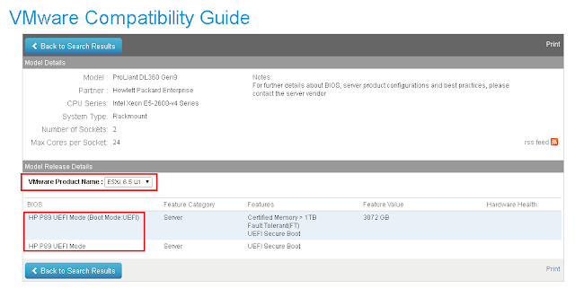 VMware Compatibility Guide