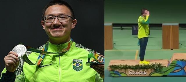 O militar Felipe Wu, do tiro esportivo, garante primeira medalha brasileira