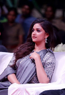 Keerthy Suresh with Cute Smile in Sarkar Audio Launch 1