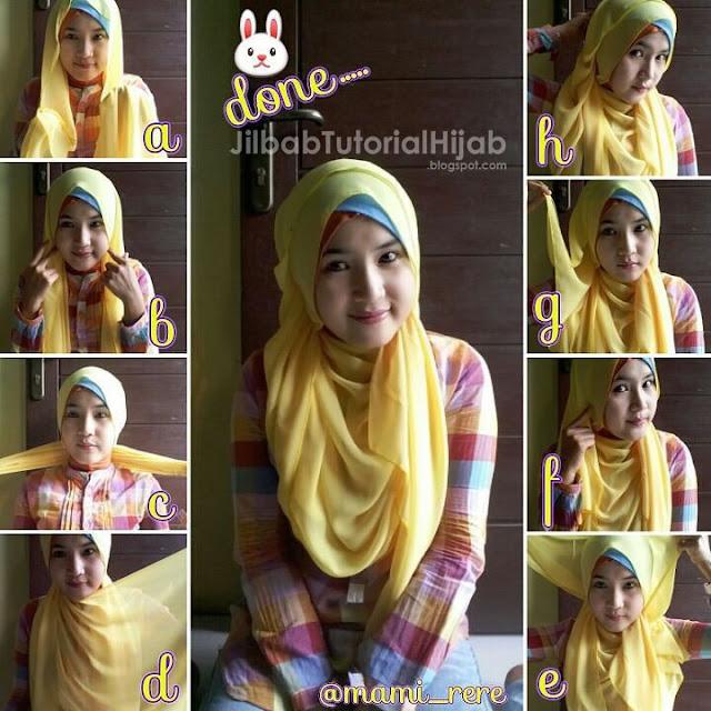 tutorial hijab pashmina untuk wajah lingkaran Tutorial Hijab Pashmina untuk Wajah Bulat