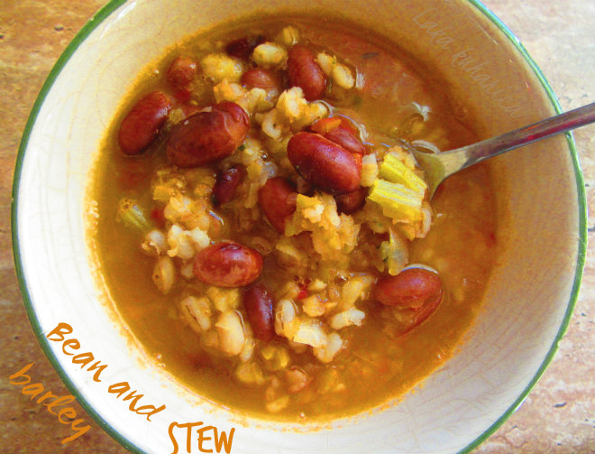 Bean and barley stew by Laka kuharica: a very traditional Croatian recipe has many equally delicious variations.