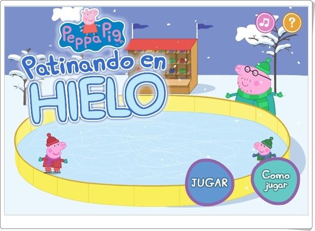 """""""Peppa Pig patinando en hielo"""" (Juego de Números hasta el 9)"""