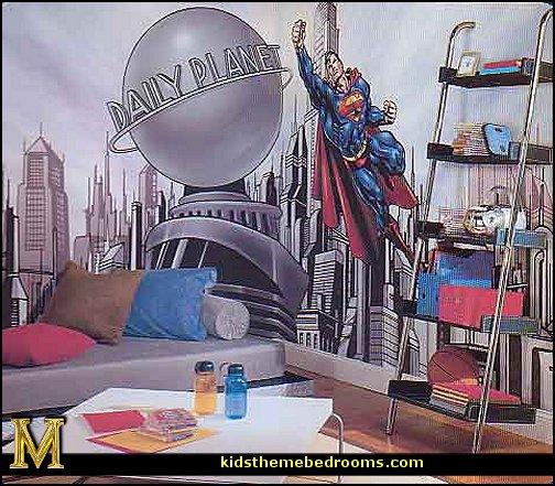 Superman Bedroom Decorating Ideas   Superman Decor   Superman Wall Murals    Superman Bedding