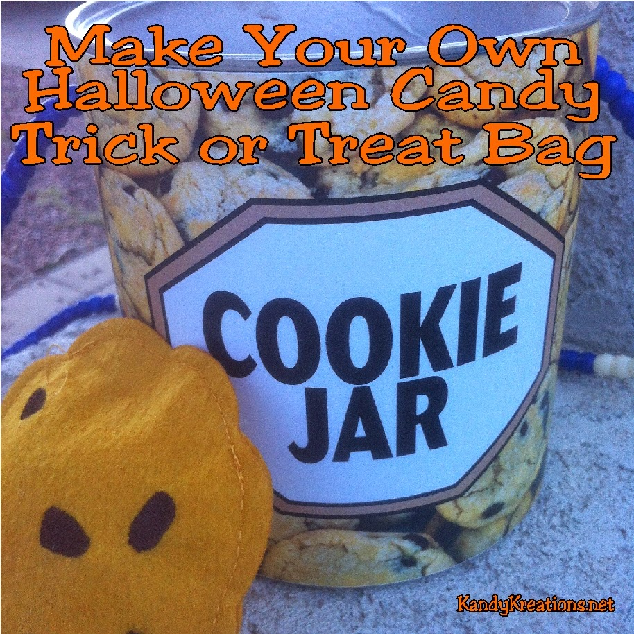 Make your own Halloween candy trick or treat bag or container with one of these easy free printables and some simple items you can upcycle from around the house.  You can make a personalized Halloween candy trick or treat bag that matches your costume or wishes your friends a Happy Halloween!