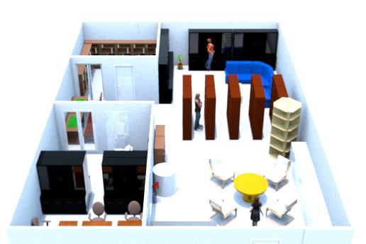 Layout Ruang Perpustakaan - Tampak Depan