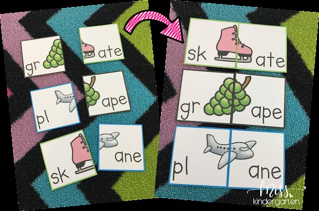 Letter Blends Practice Activities for Kindergarten