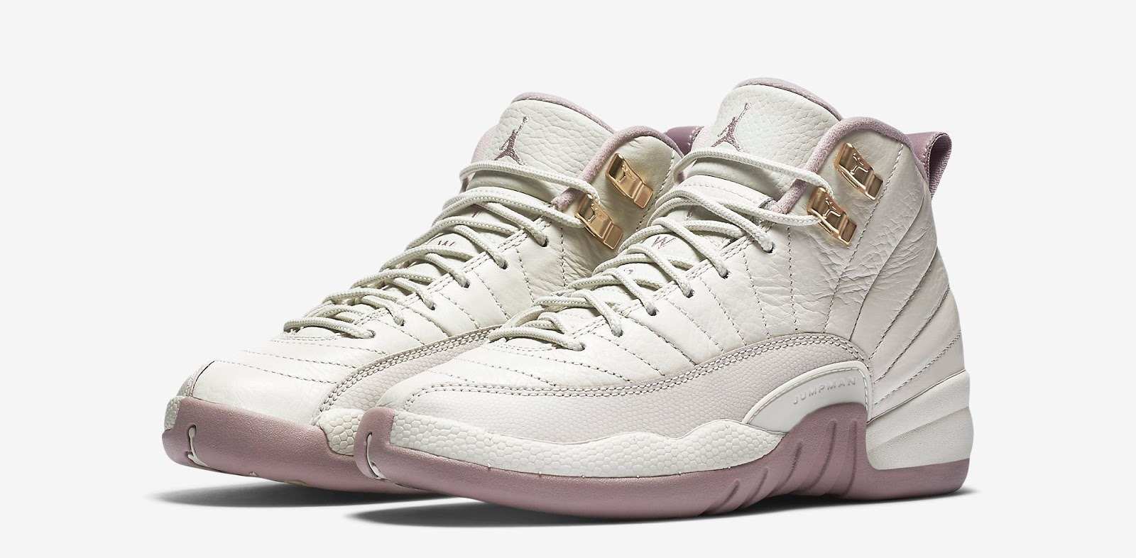 4c02f7ffc6de ... Girls Air Jordan 12 Retro GG Light Bone Metallic Gold Star-Plum Fog  Release Reminder NIKE ...