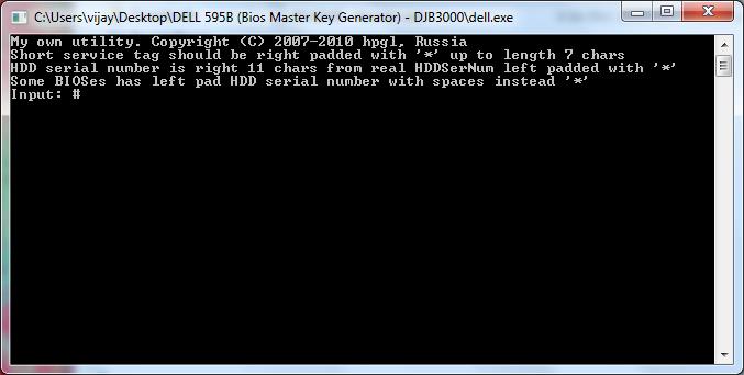 dell 595b bios master key generator djb3000 rar download
