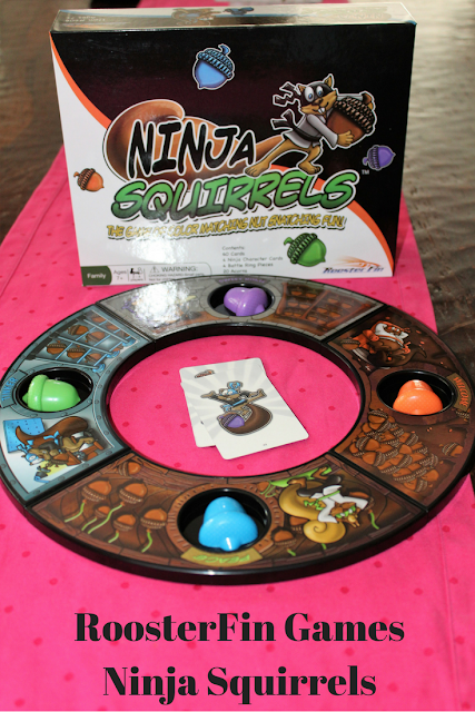 Roosterfin Games Ninja Squirrels, Ninja Squirrels, games, family games, kids, for adults, for kids, matching