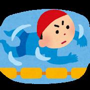 平泳ぎのイラスト