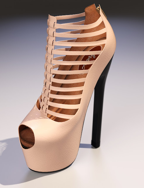 Avery High Heels for Genesis 3 Female