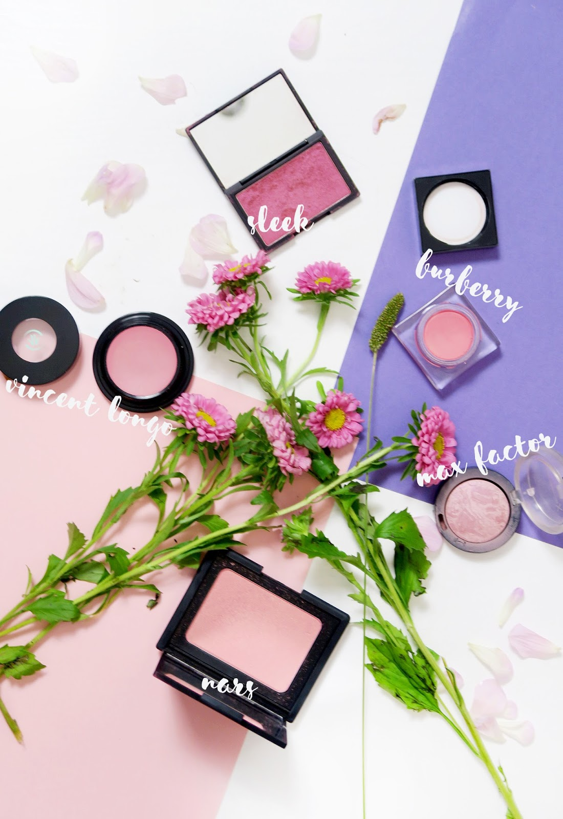 An image of five blushers to try in autumn