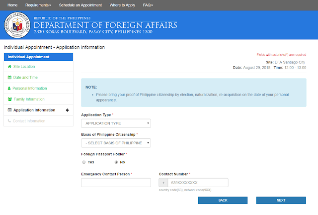 New or Renewal of passport Appointment