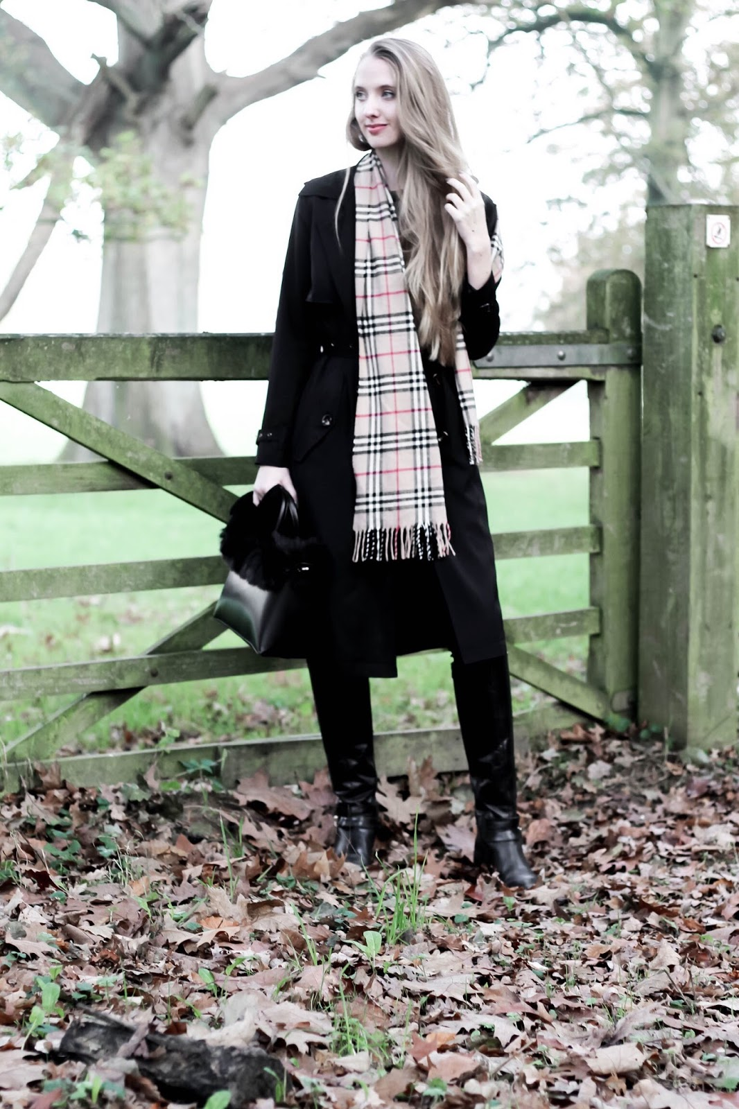 UK Fashion Blogger how to style a burberry scarf